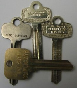 "Pre-stamped ""DO NOT DUPLICATE"" Key Blanks"